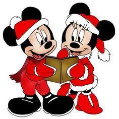 Merry caroling, Mickey and Minnie
