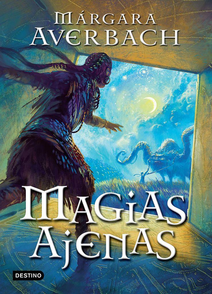 """Ilustración de portada para """"MAGIAS AJENAS"""" de Márgara Averbach  - Ed. DESTINO - Planeta."""