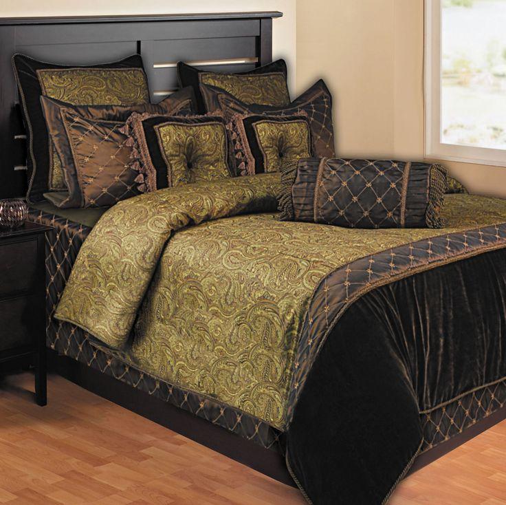 Opulent Paisley 10 Piece King Comforter Set