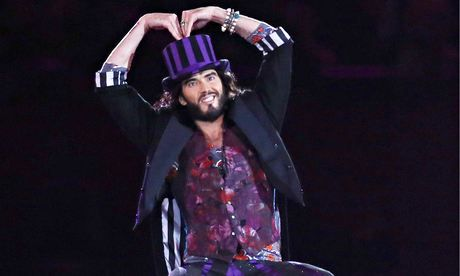'It's coming out soon. Do you want it?' … Russell Brand at the closing ceremony of the 2012 Olympics. Photograph: Rex Features