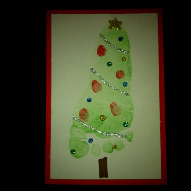 Baby Christmas Trees: Baby's Footprint Christmas Tree. (cards Or Ornaments!) My