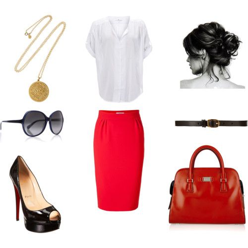 office outfit...I'm not sure the purse really matches but it would be amazing in black!