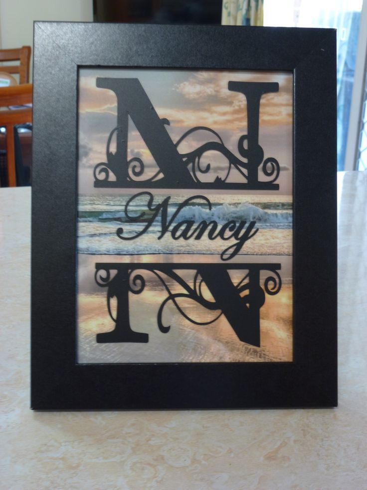 Split Letter using my Silhouette Cameo