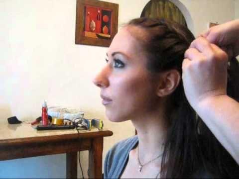 Acconciatura semplice e veloce : chignon con treccia alla francese - YouTube