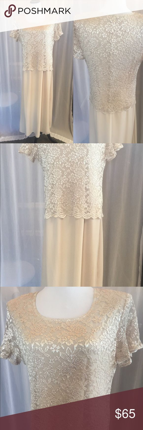 Cream Formal Dress Great for mother/grandmother of the Bride! Serene Dresses Wedding