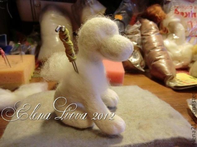 Master class on felting wool beagle puppy - Fair Masters - handmade, handmade