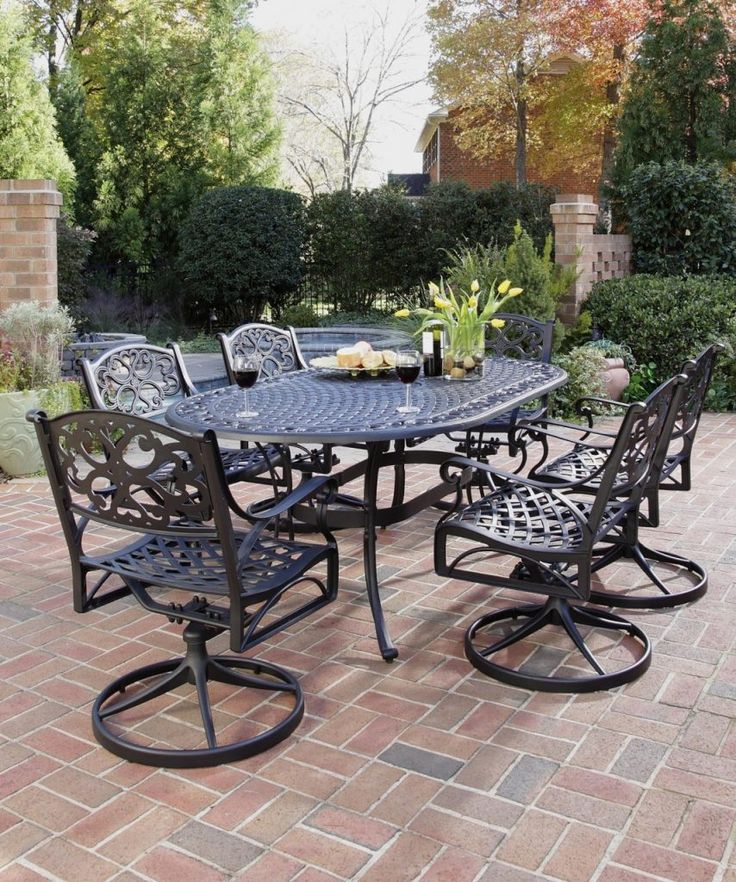 Cast Iron Patio Furniture Wrought Iron Patio Dining Table