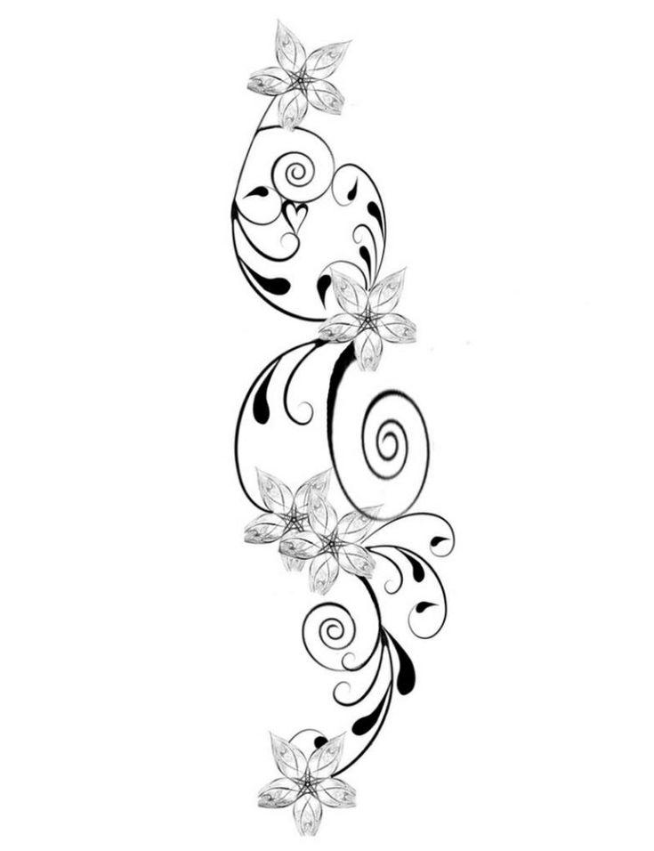 die besten 25 blumenranken tattoo ideen auf pinterest. Black Bedroom Furniture Sets. Home Design Ideas
