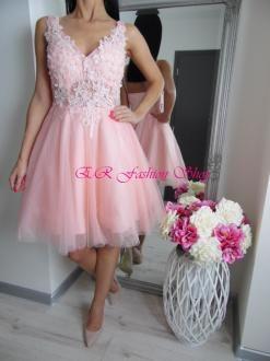 Šaty eleg. DIVA (krátke/ružové)