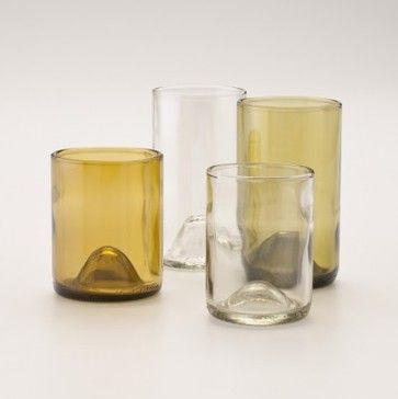 Recycled Wine Punt Tumblers - contemporary - cups and glassware - Schoolhouse Electric