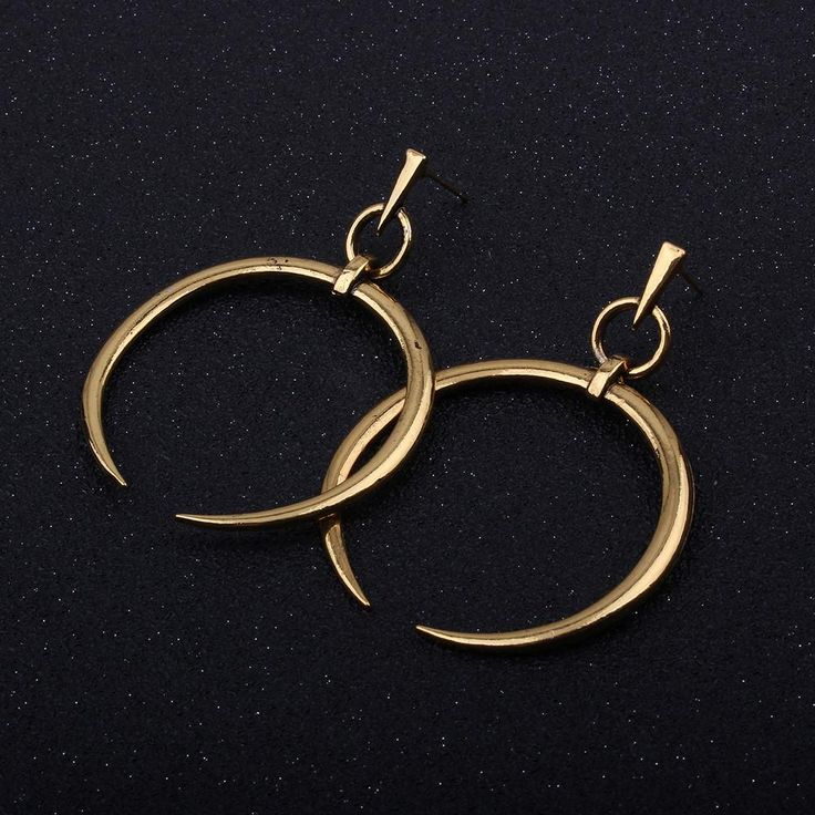 1 Pair New Fashion Lady Women Thin Round Big Large Dangle Hoop Loop Earrings