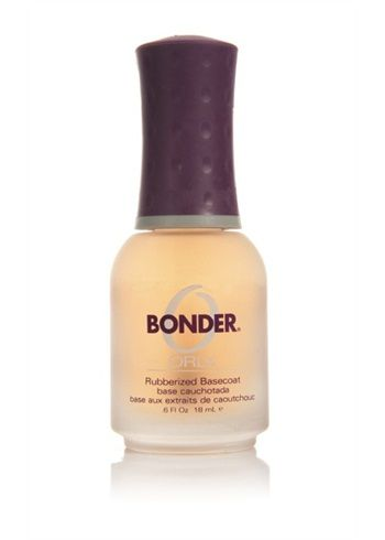 Orly bonder - rubberlike basecoat // I'm a nail polish junkie, and this is my favorite base coat ever. I've tried OPI and Essie--I keep going back to this one, because I notice the difference.