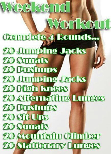 Exercise Routine for weekends. DH