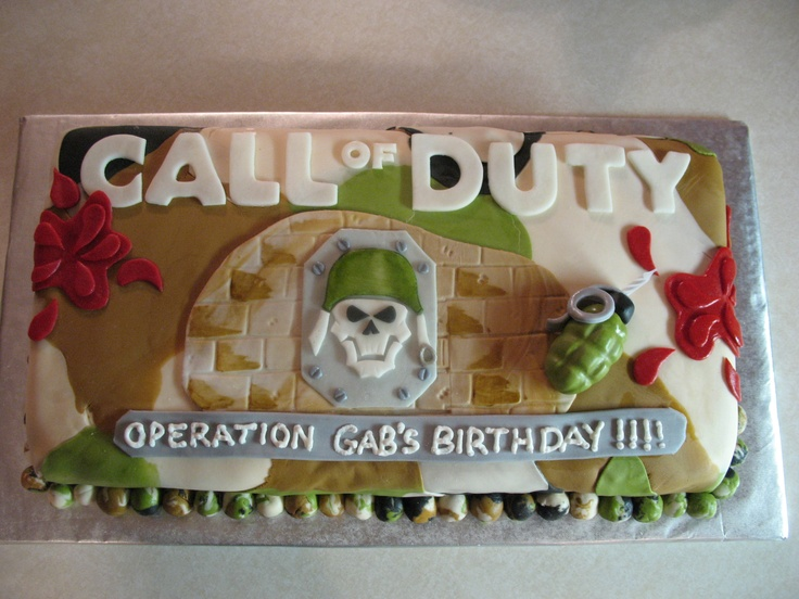 62 Best Call Of Duty Birthday Cakes Images On Pinterest Birthday