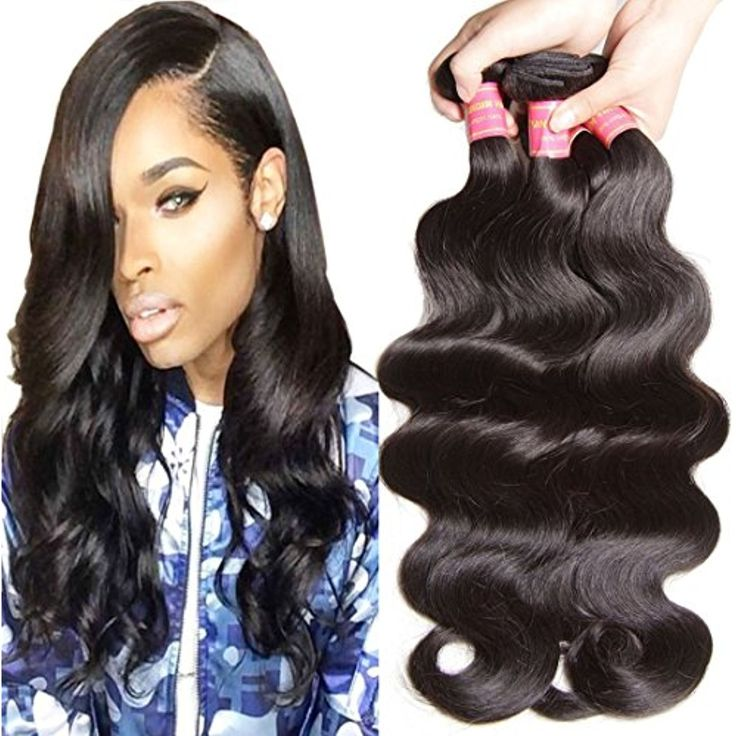 Jolia Hair Brazilian Body Wave 3 Bundles 100% Unprocessed Virgin Brazilian Human Hair Weave Extensions, Full Head, Natural Black Color, Pack of 3 (8 10 12) ** Learn more by visiting the image link. (This is an affiliate link and I receive a commission for the sales)