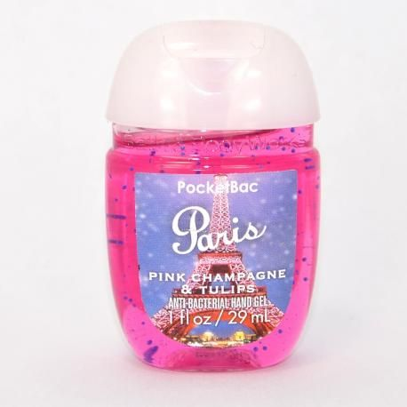 Gel antibactérien PARIS PINK CHAMPAGNE & TULIPS Bath and Body Works Us pocketbac