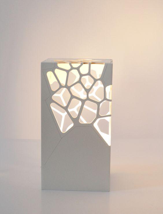 white table lamp