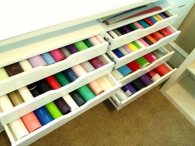 Vinyl Storage Using Ikea S Alex Drawer Units Htv In One Adhesive The