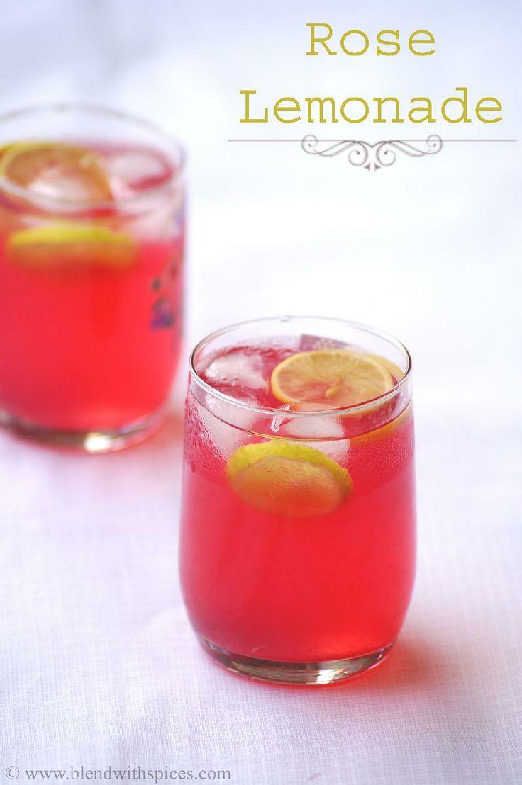 Rooh Afza Lemon Sharbat Recipe - Indian Rose Lemonade Recipe - Summer Drinks | Indian Cuisine