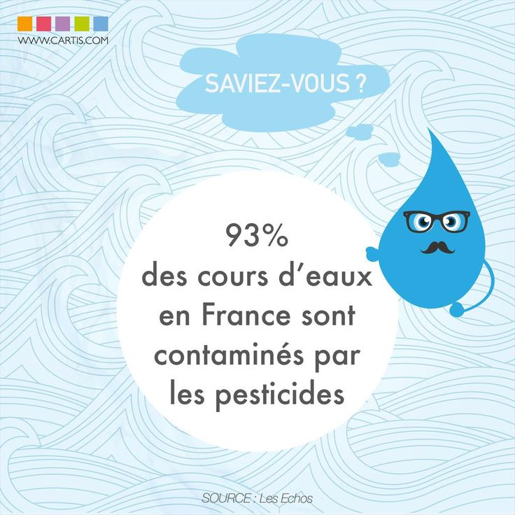 Pensez-vous à filtrer votre #eau pour lutter contre ces #pesticides ? #CARTIS #écologie #environnement