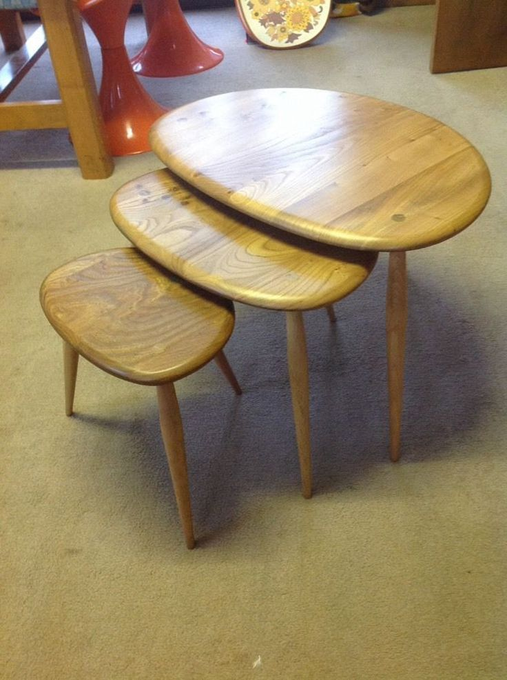 Beautiful nest of original Ercol tables// Vintage Tweaks Ebay Store