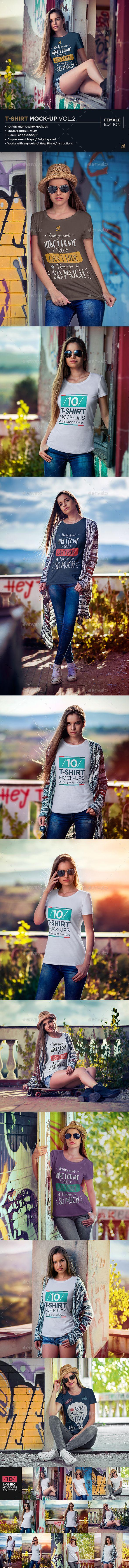 T-Shirt Mock-Up Vol.2 - T-shirts Apparel