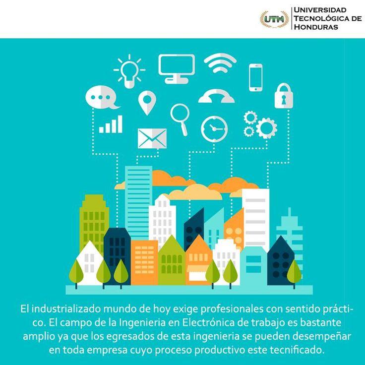 Estudia #IngenieriaEnElectrónica en #Universidad  #UTH #Honduras