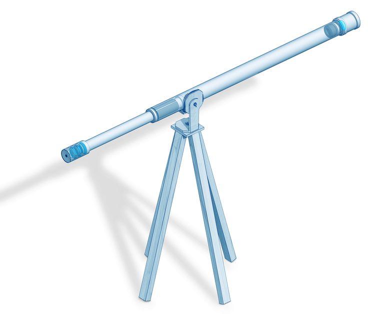 Monte sua própria luneta astronômica com apenas R$ 60