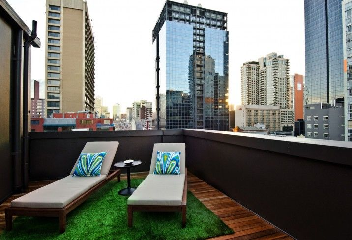 Ovolo Hotel Melbourne, where you can lounge amid the city skyscrapers… - rooftop space I like