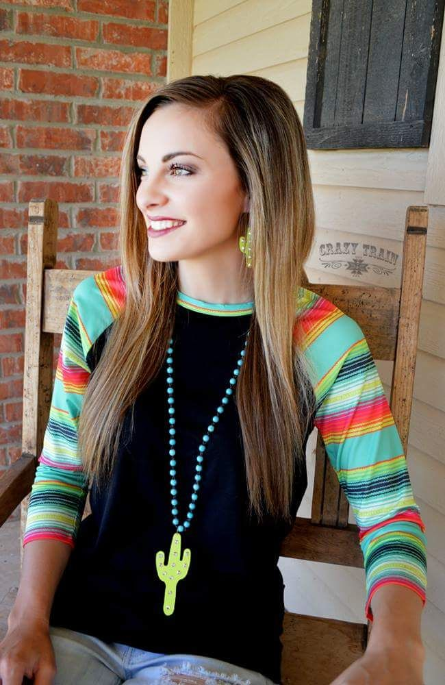On the Horizon Serape Top - Also in Plus Size