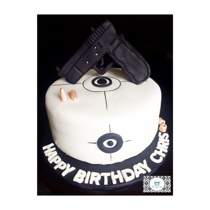 Gun cake for him (could also work for someone who's in law enforcement)