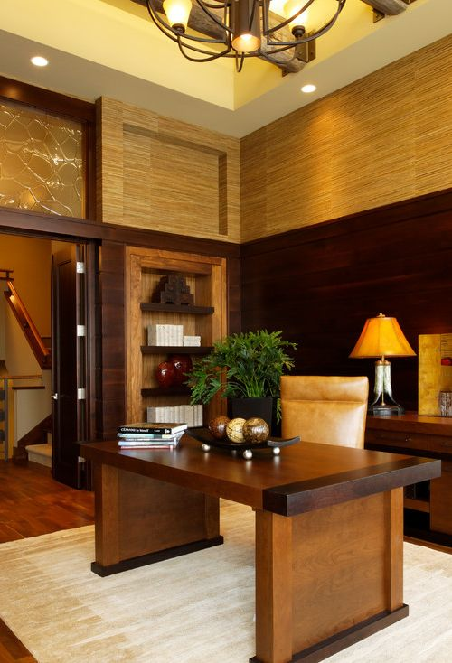 Interior .. Modern luxury office room