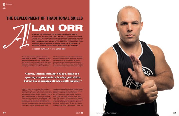 Spread of our cover interview with Sifu Alan Orr from Issue No. 28. For a complete Table of Contents, please visit: https://www.wingchunillustrated.com/issue-28-table-contents/