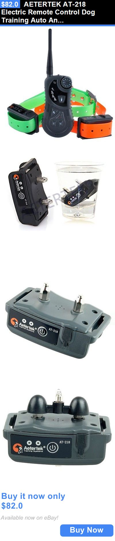 Pet Supplies: Aetertek At-218 Electric Remote Control Dog Training Auto Anti Bark Collar Shock BUY IT NOW ONLY: $82.0