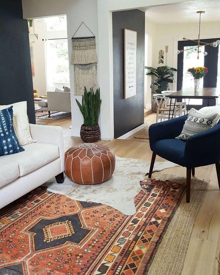 50 Perfectly Bohemian Living Room Design Ideas