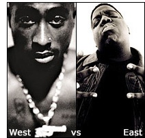 2Pac vs. The Notorious B.I.G. - The East Coast / West Coast hip hop feud