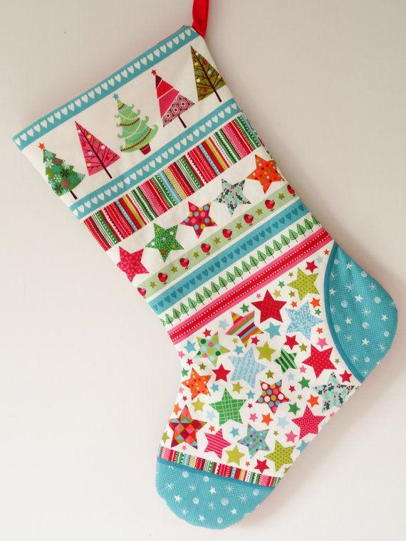 Scandinavian Christmas stocking Scandi Christmas by SarahSewsIt