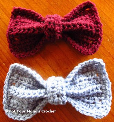 Crochet Bows Free Pattern