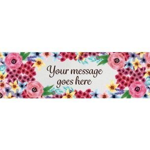 Watercolour Flowers Personalised Banner