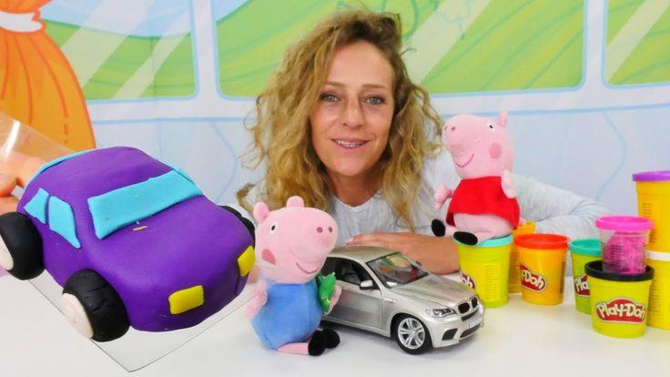 🐽 #PlayDoh Video: #PeppaPig und Nicole #kneten ein Auto 🚗 Peppa Wutz auf...