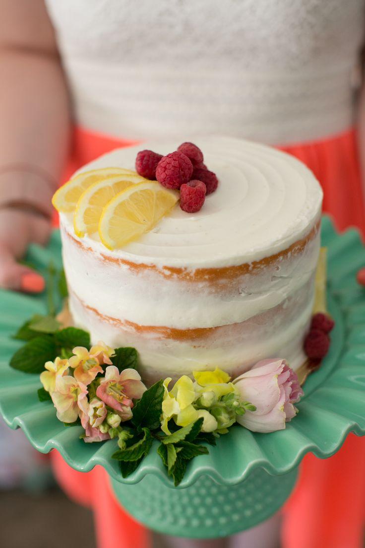 Pink ombre lemon cake, filled with tart lemon curd & fresh raspberries, naked-iced with buttercream - light & refreshing, much like it's beverage namesake.