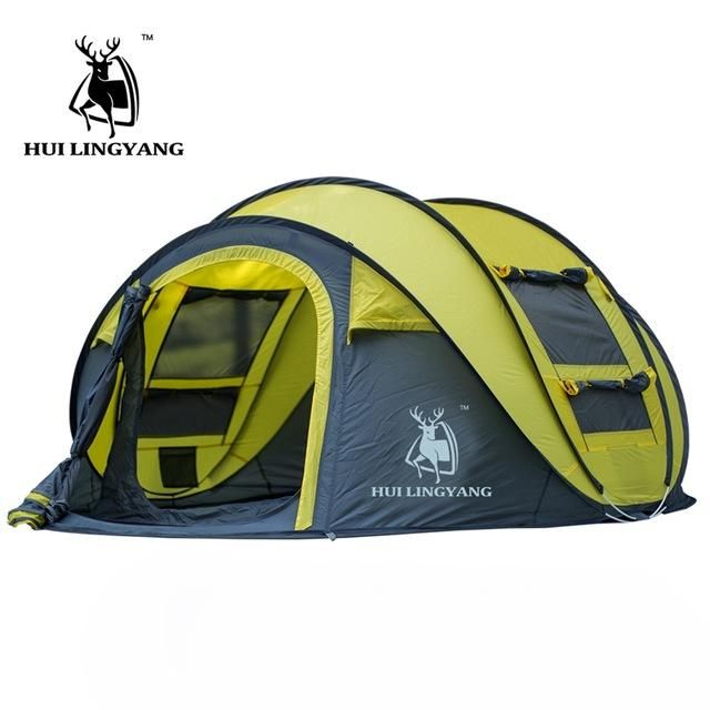 AUTOMATIC INSTANT POP UPTENT Outdoor 4 Person Family Tent for Camping, Hiking, or the beach