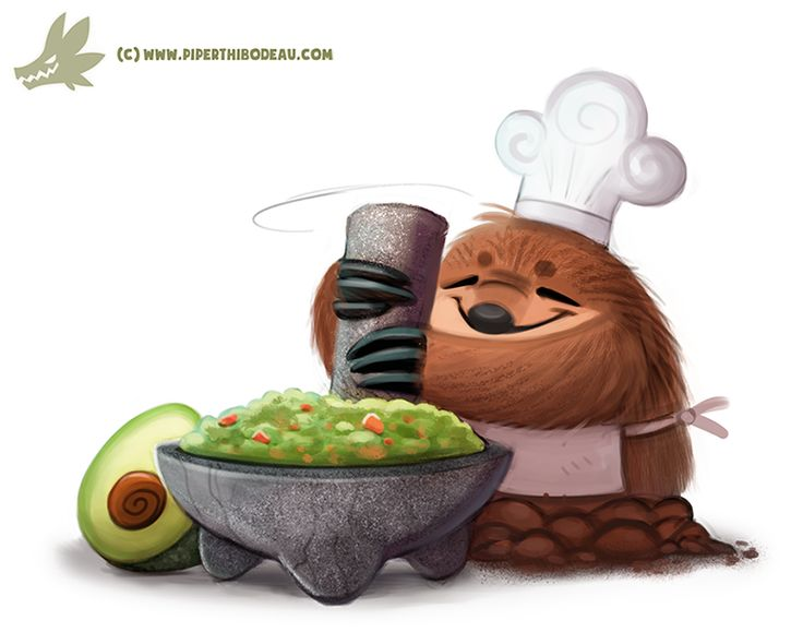Daily Paint #1141. Guaca' Mole by...