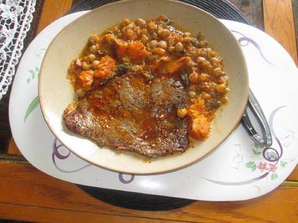 recette cote de porc  marinée et sa poelée légumes