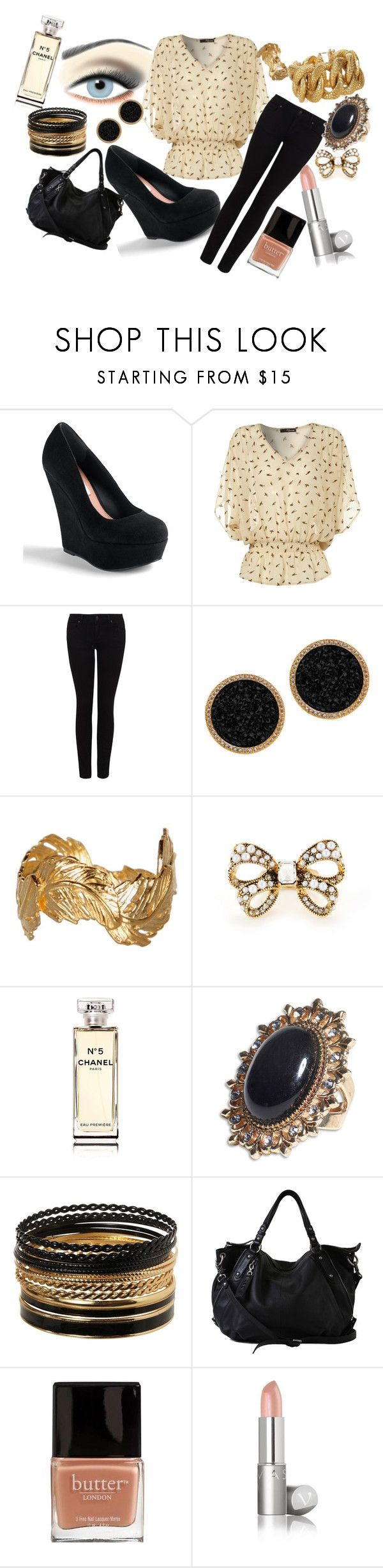 """""""68 ;; Fool like me"""" by hello-olivia ❤ liked on Polyvore featuring Jane Iredale, Steve Madden, Jane Norman, Paige Denim, Sahani, Alex Monroe, Betsey Johnson, Chanel, Yves Saint Laurent and Butter London"""