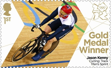 Royal Mail 'next day' Gold medal stamps for Team GB - Jason Kenny sprint cycling #London2012 #Olympics