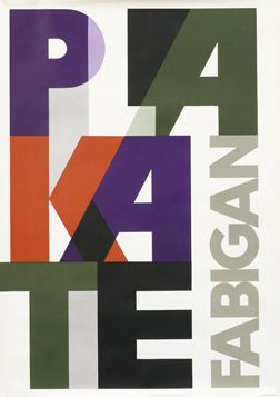 1955 / International Style / Modernist: Fabigan, Hans poster: Plakate Fabigan