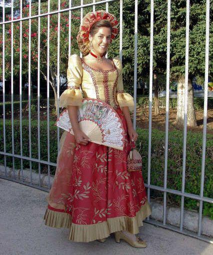 Traje de goyesca, típico de Madrid, XVIII-XIX