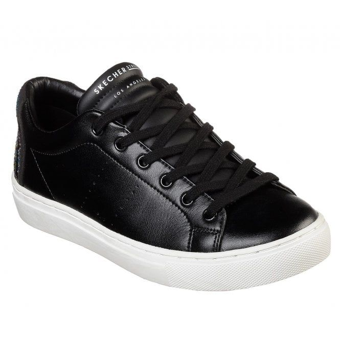 Skechers Side Street Sunset Walks Black Leather Sneakers