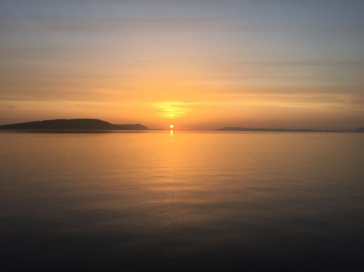 Last evening. Sunset over the Adriatic by island of Hvar in Croatia.